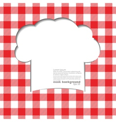 Tablecloth red vector image