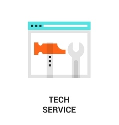 Tech service icon vector