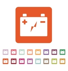 The accumulator battery icon Power and electric vector