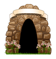 tomb a hand-drawn artistic image a tomb vector image