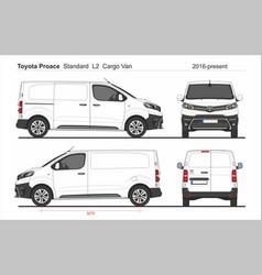 Toyota proace cargo standard van l2 2016-present vector