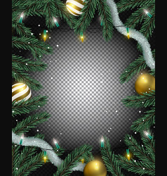 transparent christmas background of realistic vector image