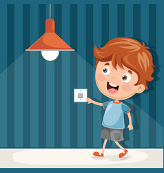 turning on the light vector image