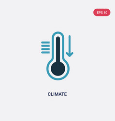 Two color climate icon from meteorology concept vector