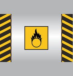 warning hazard signs vector image vector image