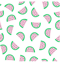 watermelon slices seamless pattern watermelons vector image