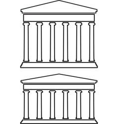 contours of portico colonnade vector image vector image