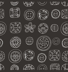 Lovely buttons seamless pattern vector