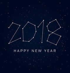 new-year-2018-stars-sky vector image