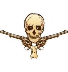 skull guns vector image