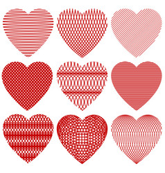a set of hearts for valentine day vector image