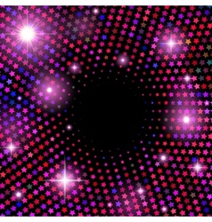 Abstract background with shiny stars vector image