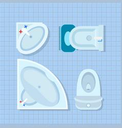 bathroom interior design on vector image vector image