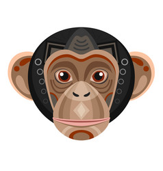 chimpanzee head logo monkey decorative vector image vector image