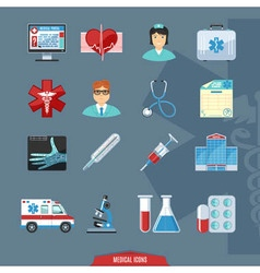 Medical And Healthcare Colorful Icons vector image