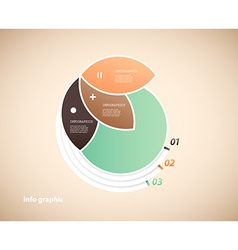 One circle infographic with 3 petals and place for vector
