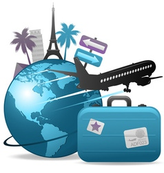 travel concept vector image