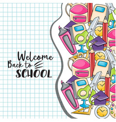 welcome back to school doodle clip art vector image vector image