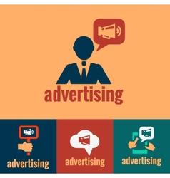 advertising sign human symbol vector image vector image