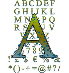 mildew alphabet vector image vector image