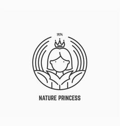 nature princess logo vector image