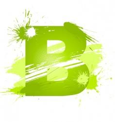 paint splashes font letter b vector image