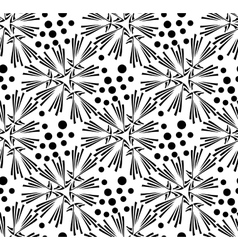 seamless pattern of dandelion vector image