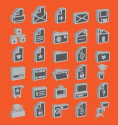 web icons 3d vector image