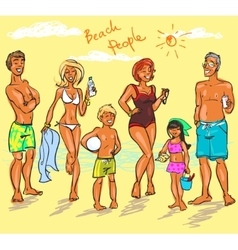 Beach People vector image