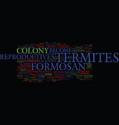 Formosan termites ii text background word cloud vector