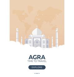 india agra taj mahal time to travel travel vector image