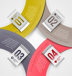 Infographics elements with numbered labels vector image