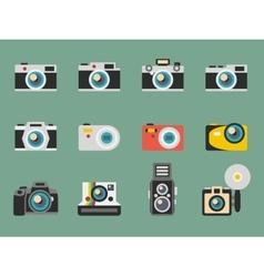 Photo camera flat icons vector image