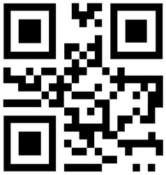 Qr code says Thank you vector image vector image