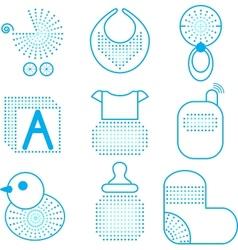 Set of babys symbols vector image vector image