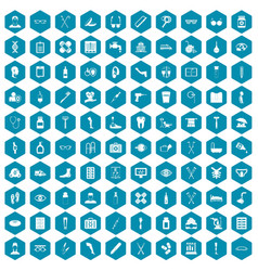 100 disabled healthcare icons sapphirine violet vector image