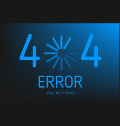 404 error not found page with download vector image