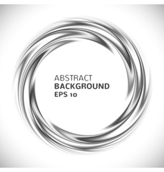 Abstract black and white swirl circle background vector image