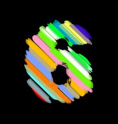abstract colorful number 6 vector image