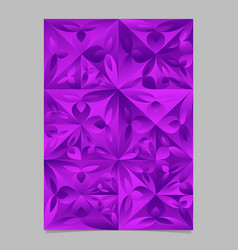 Abstract violet mosaic floral pattern template vector