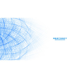 Abstract white background with blue lines mesh vector