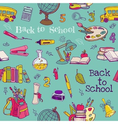 Back to School - Seamless Background vector