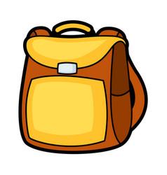 Backpack school education icon vector