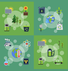 banners set of with ecology vector image