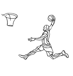 Basketball player Slam Dunk Silhouette vector