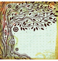 Beautiful vintage hand drawn tree life vector