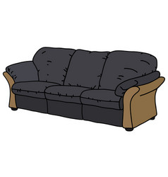 Black and beige sofa vector