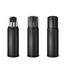 Black spray cans realistic set vector
