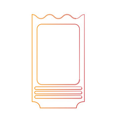 Blank ticket icon image vector