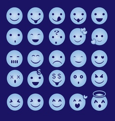 Blue Emoticon vector